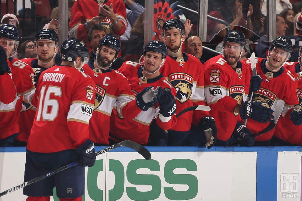 Barkov on ollut Panthersin tehomies.