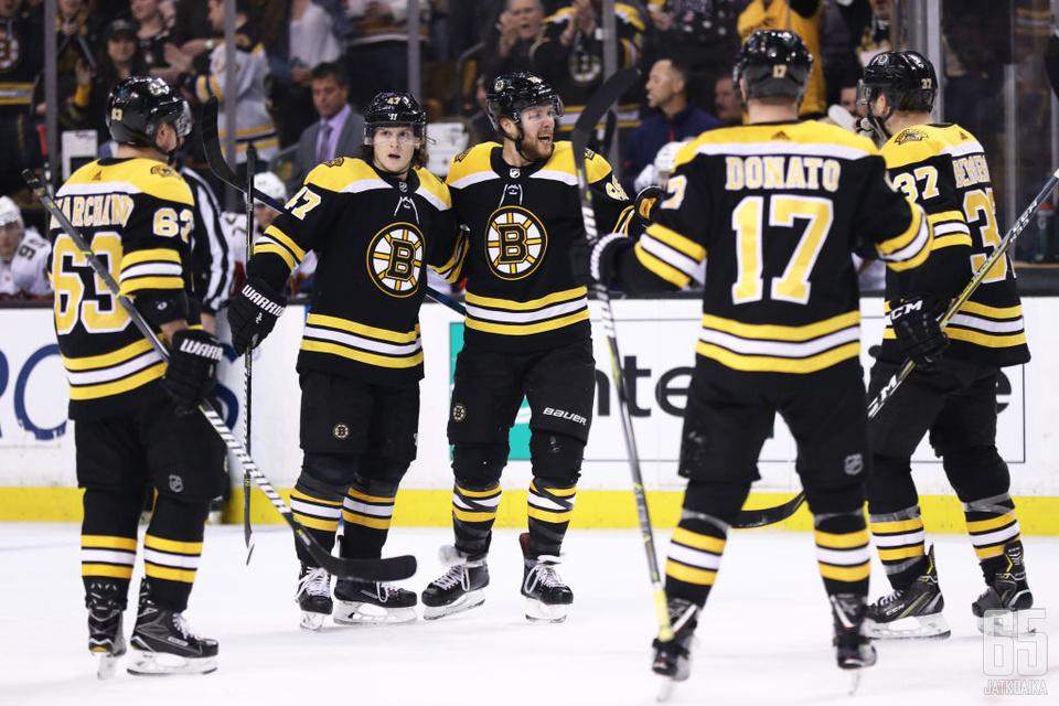 Boston Bruins pelasi vahvan runkosarjan.