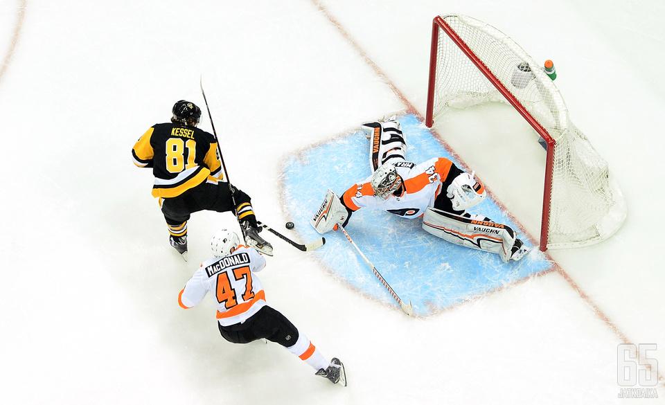 Pittsburgh Penguinsin ja Philadelphia Flyersin kohtaamiset ovat usein viihdyttäviä maalikarkeloita.