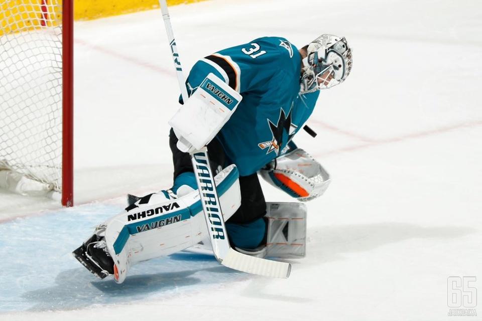 Martin Jones on NHL:n kuumin maalivahti.