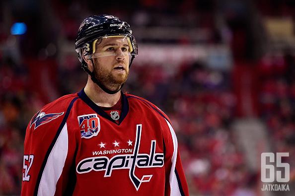 Mike Green nousi NHL-tähtien joukkoon Washington Capitalsin paidassa.