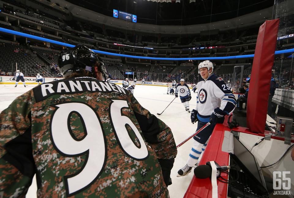 Kun Mikko Rantanen viimeksi kohtasi Patrik Laineen, iski Rantanen uransa ensimmäisen NHL-maalin.