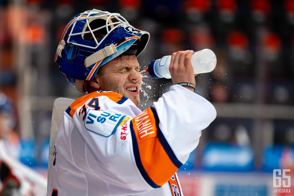 Michael Garteig oli hyvässä vireessä Kärppiä vastaan.