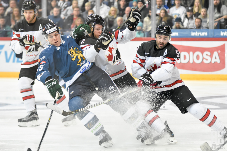 Marjamäen mukaan Suomen teemana Kanadaa vastaan oli kamppailupelaaminen.