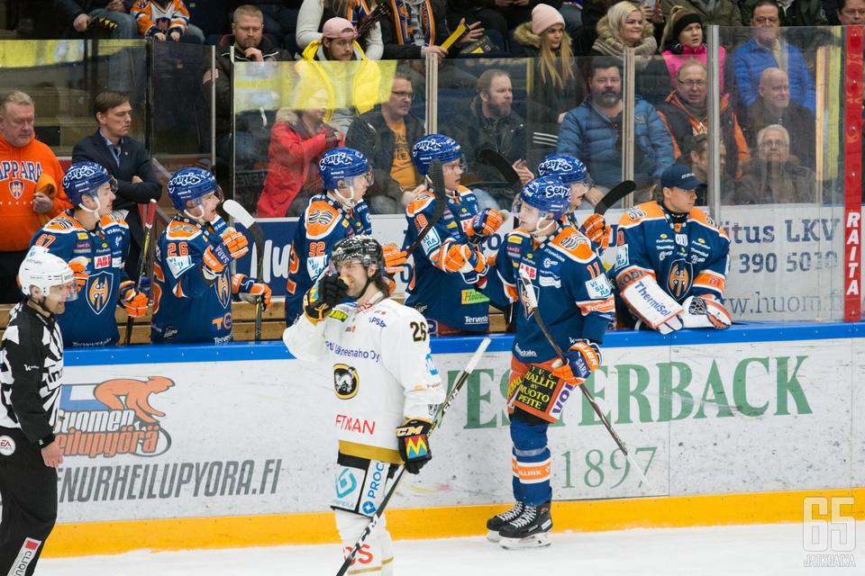 Matti Järvinen viimeisteli Kärppiä vastaan tehot 1+1.