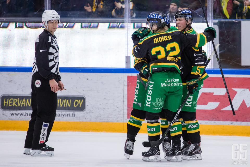 Ikonen vei joukkueensa kolmatta, viimeistä ja ratkaisevaa kertaa johtoon SaiPaa vastaan.