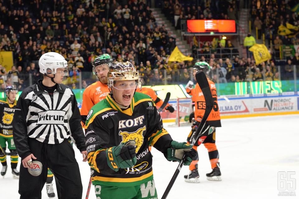 Rautiainen ratkaisi ottelun kahdella maalillaan.