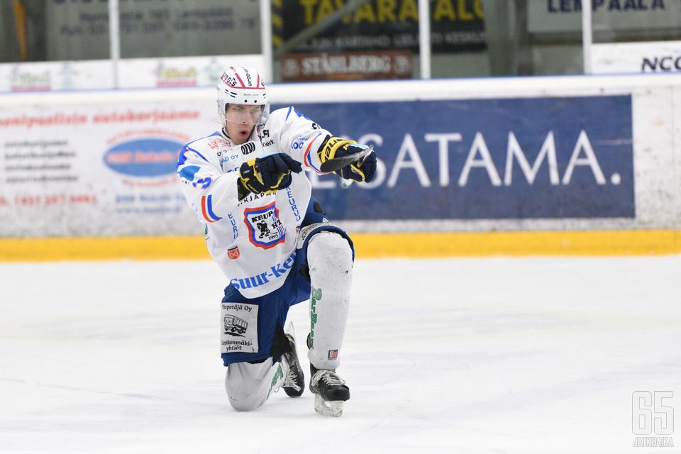 Janne Väyrynen iski ottelussa kaksi osumaa.