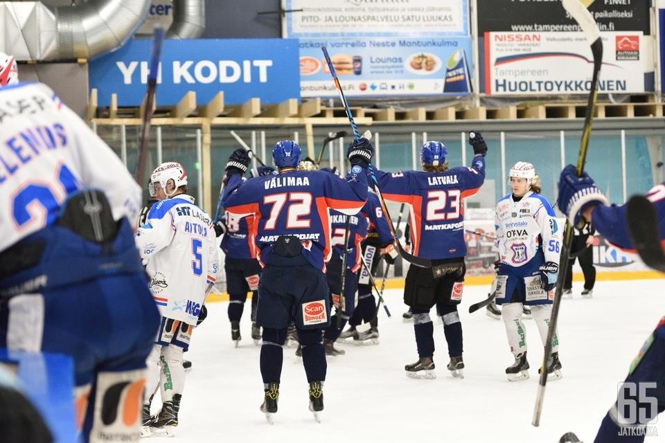 LeKi aloitti juhlat Lahtisen osuman jälkeen.