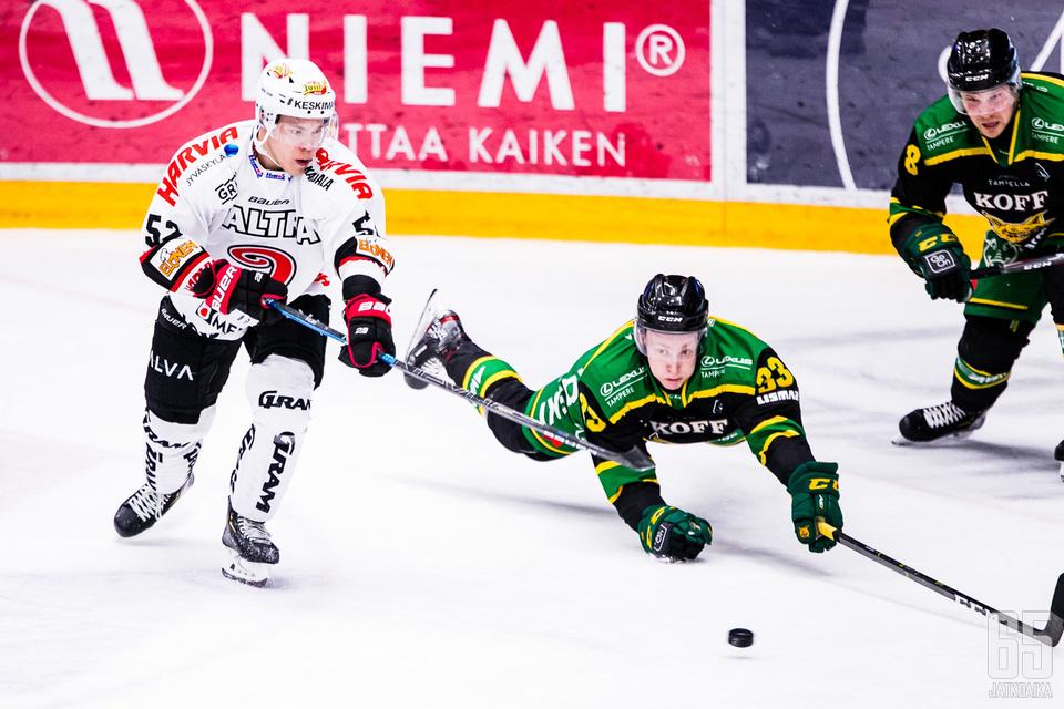 JYP oli viime kohtaamisessa Tampereella tasan kuukausi sitten parempi lukemin 3−1.
