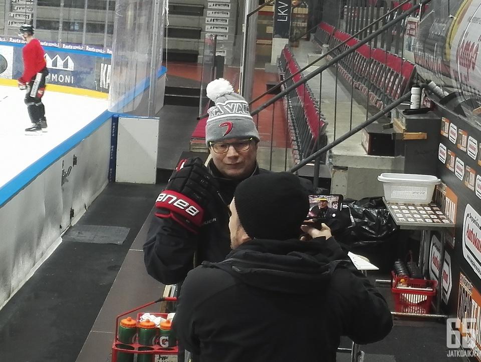 Risto Dufva johti ensimmäiset harjoituksensa tällä kaudella.