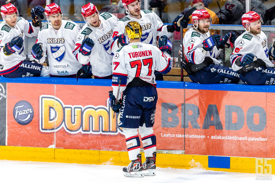 Teemu Turunen oli isossa roolissa kaatamassa Jukureita.