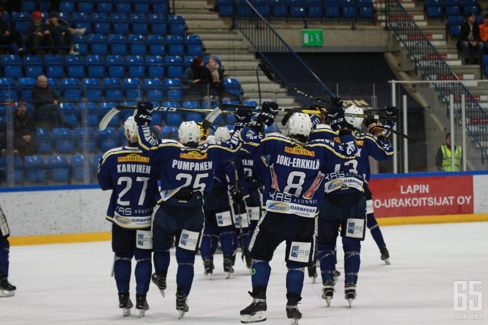 RoKi otti ensimmäisen voittonsa Mestiksen pudotuspeleissä.