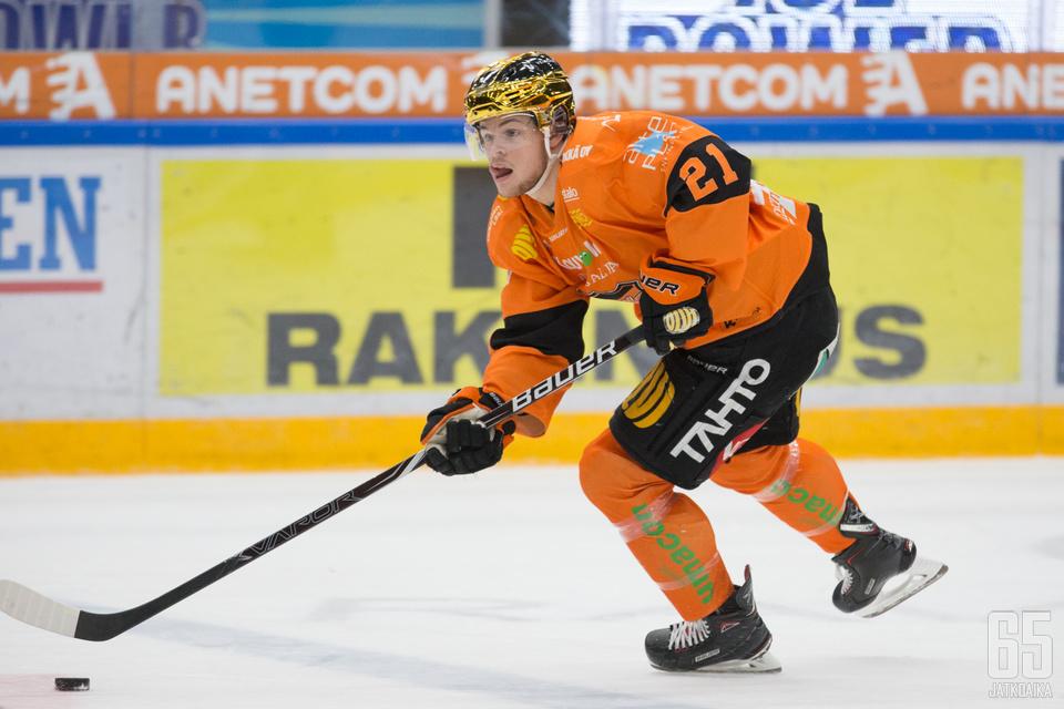 Malte Strömwall voitti Liigan maalipörssin.