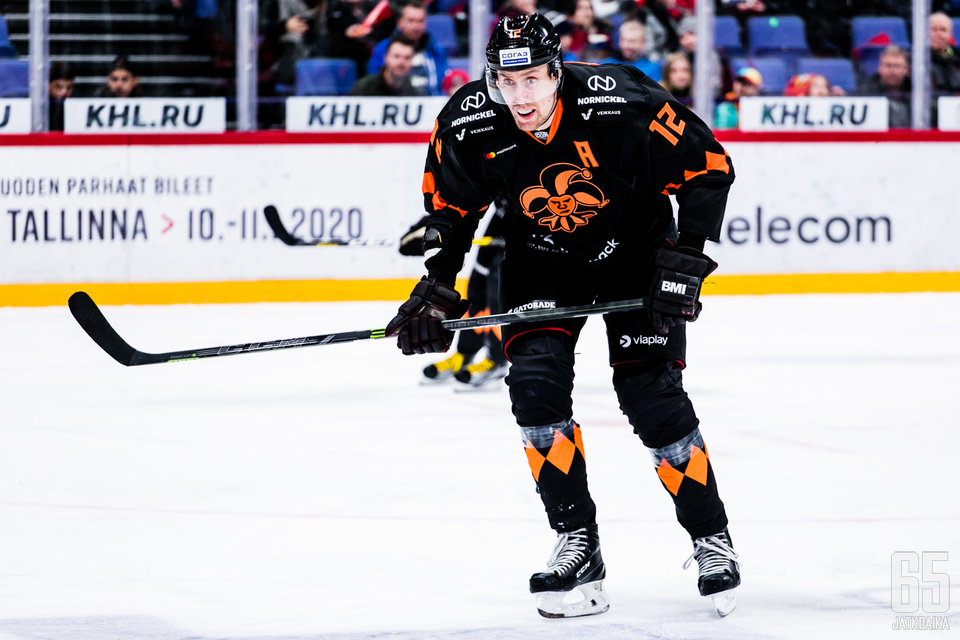 KHL: runkosarjan ottelussa Jokerit - Lokomotiv Jaroslav Hartwall Arenalla Helsingissä 31.10.2019