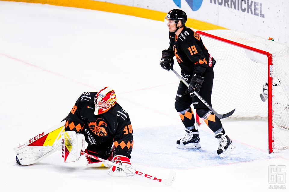 Veli-Matti Savinainen ja Janis Kalnins olivat joukkueiden edellisessä kohtaamisessa helsinkiläisten voiton ratkaisijoita.