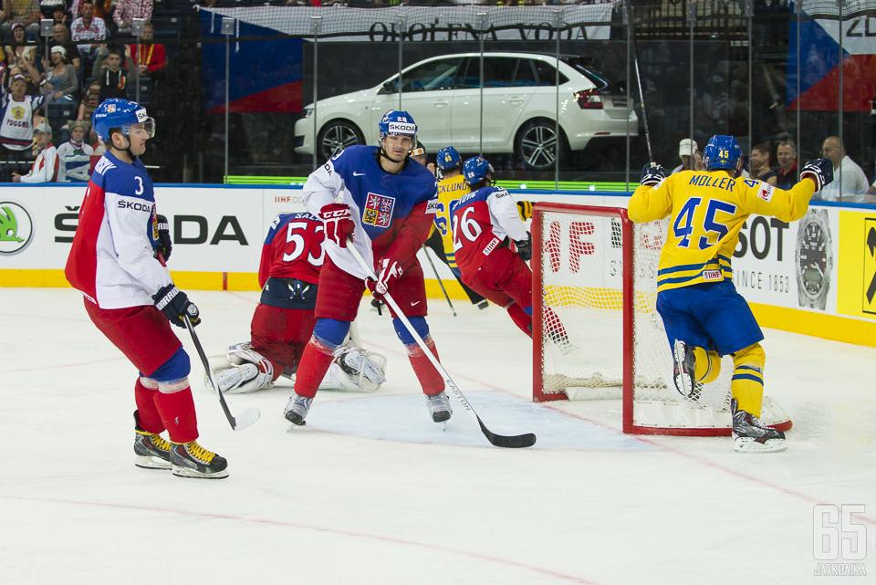 Zamorsky (3) pelasi neljänneksi sijoittuneen Tšekin MM-ryhmässä.