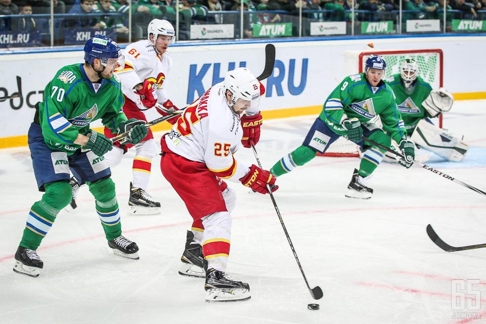 Jokerit ja Salavat Julajev Ufa pelasivat tasokkaan ja tasaisen kamppailun. (arkistokuva)