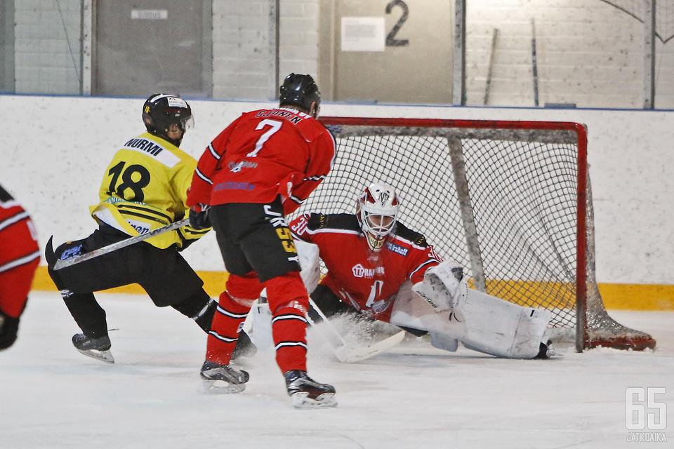 Kalle Hokkanen on ollut Pyryn viimeinen lukko kuluvalla kaudella.