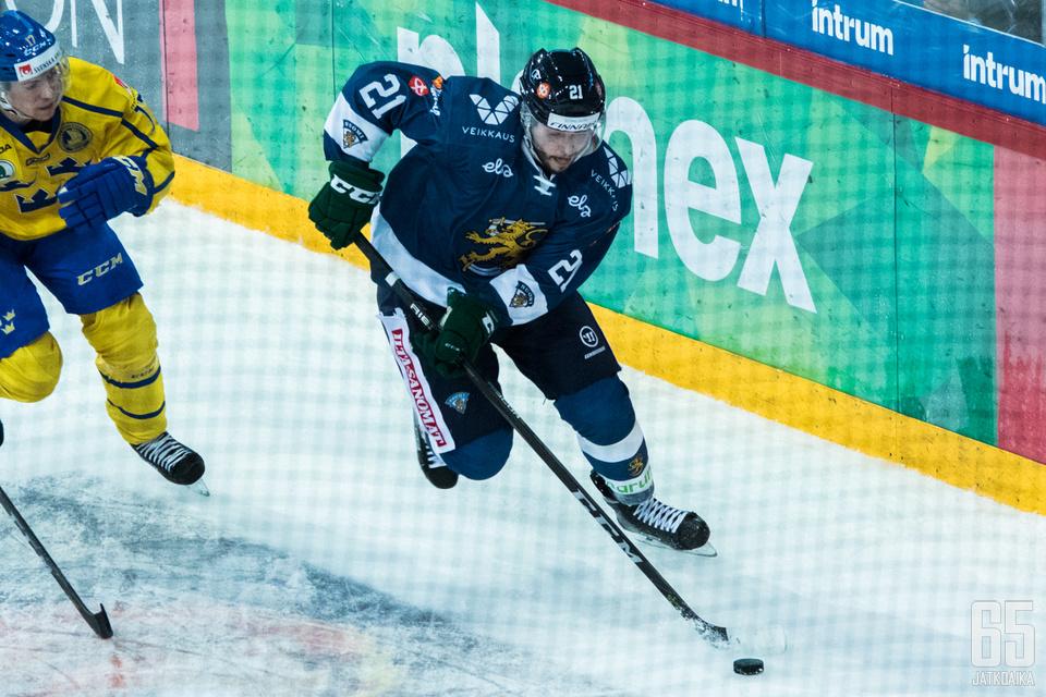 Jesse Virtanen on tuttu näky myös Leijonien vahvuudesta.