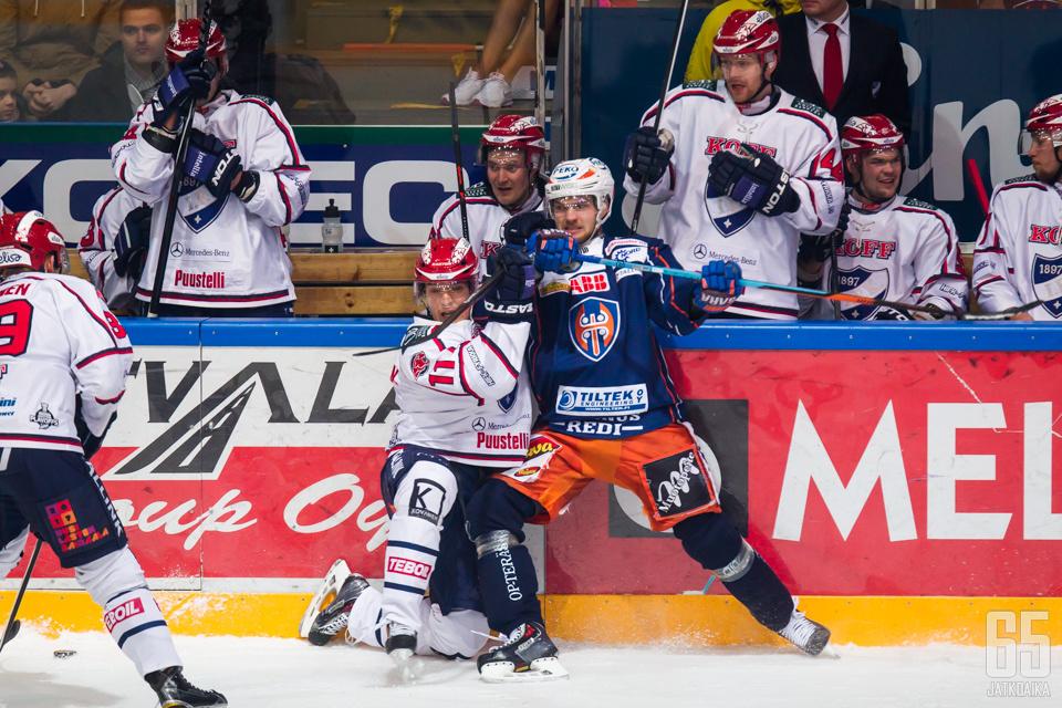 Perjantain ottelussa Tappara laittoi HIFK:n kyykkyyn.