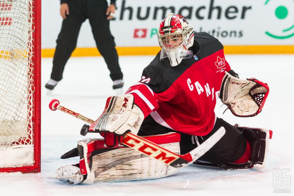Zach Sawchenko torjui Kanadalle MM-pronssit.