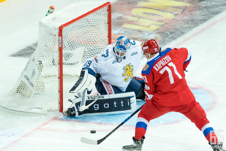 Venäjältä odotetaan maaleja Sveitsiä vastaan.
