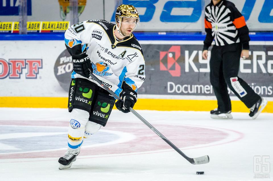 Paakkolanvaara edusti Suomessa viimeksi Pelicansia.