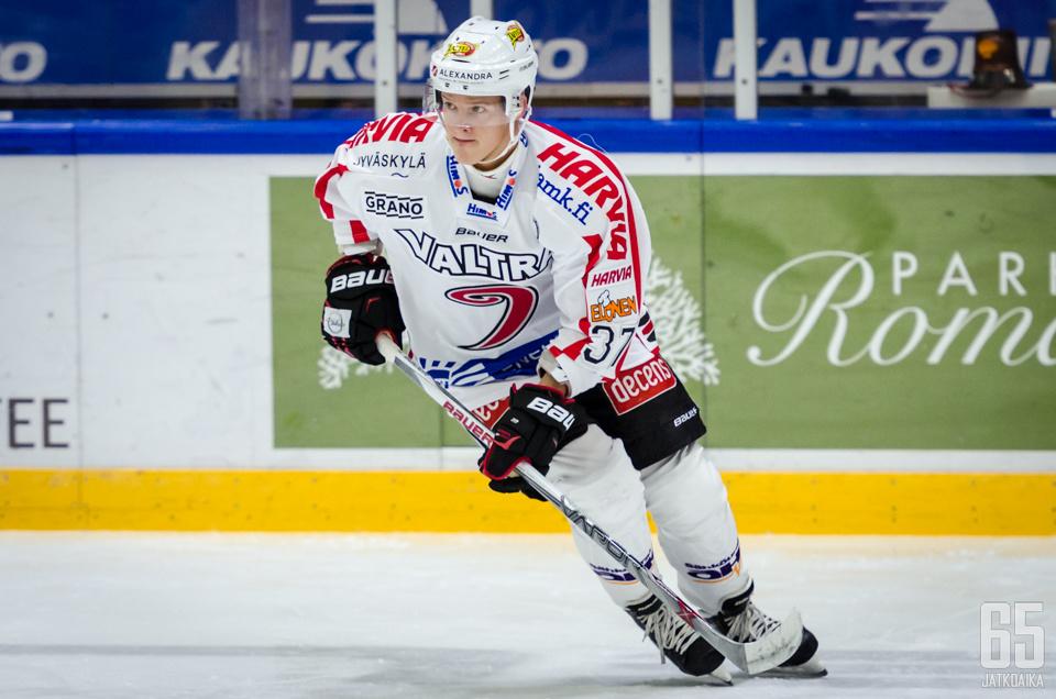 Severi Sillanpää edusti viimeksi Liigassa JYPiä.