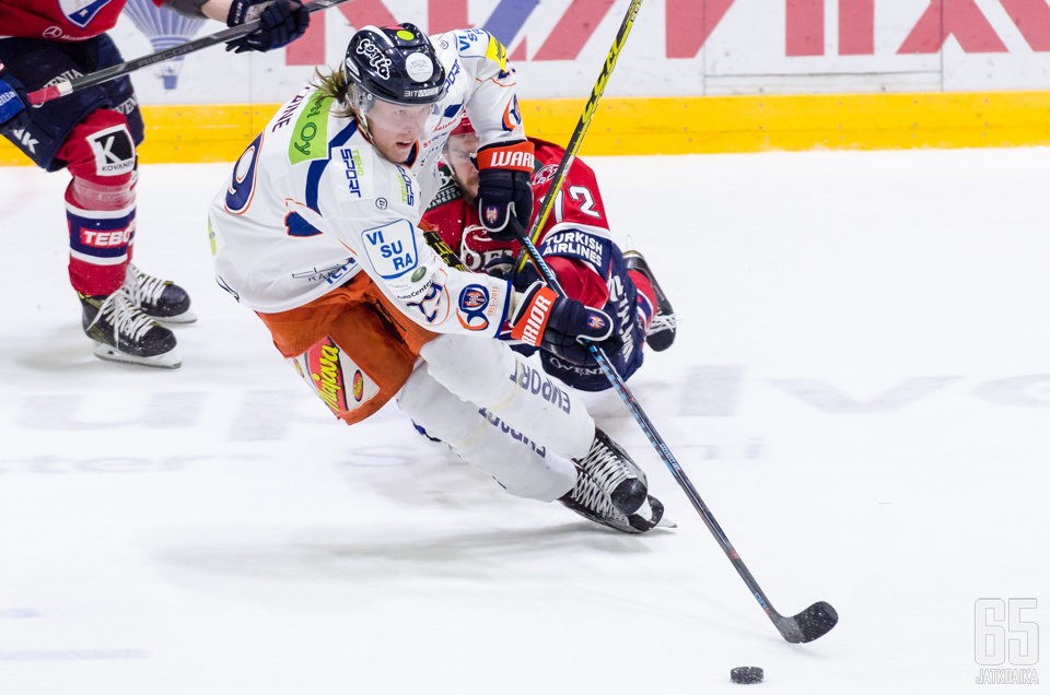 HIFK yrittää pitää ykkösketjuun nousseen Patrik Laineen edelleen maaleitta.