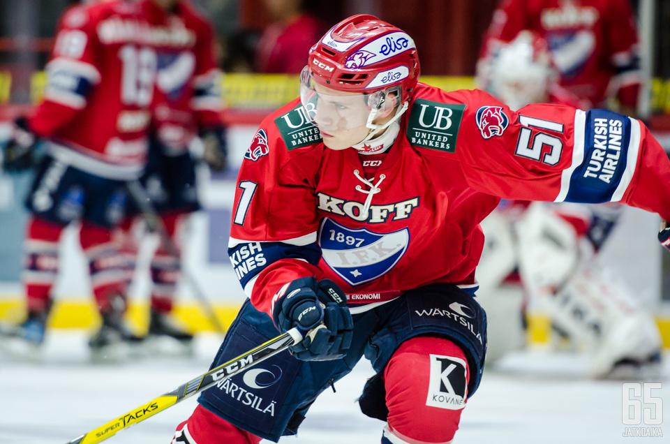 Jääskä on pelannut neljä Liiga-ottelua tällä kaudella.