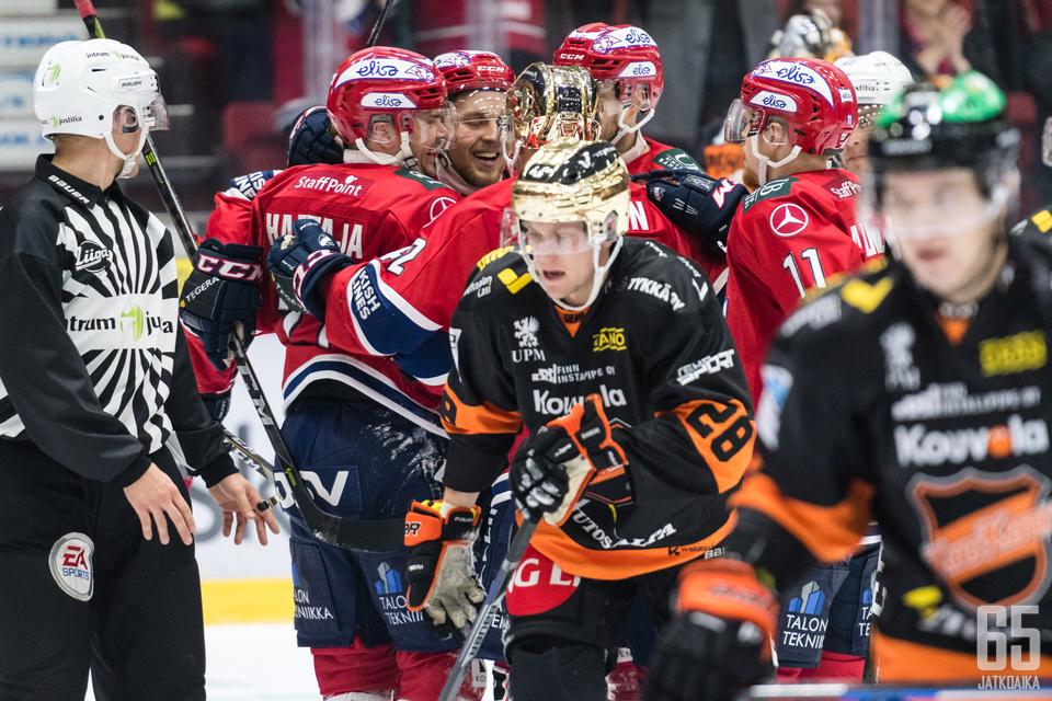 Viimeksi Helsingissä HIFK pääsi tuulettamaan voittoa.
