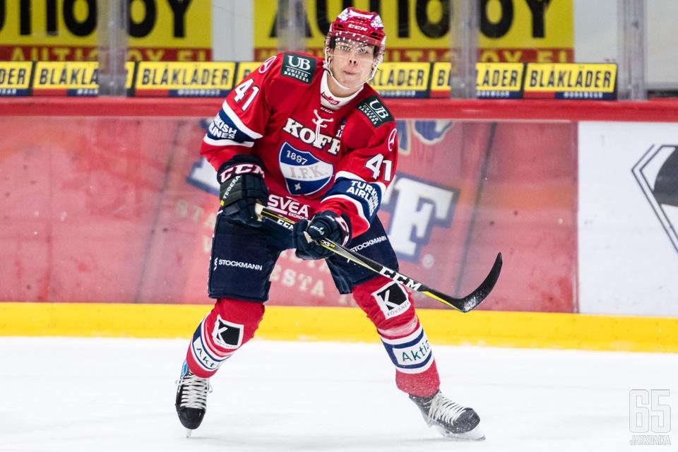 Miro Heiskanen teki Sportia vastaan kaksi maalia. (Arkistokuva)