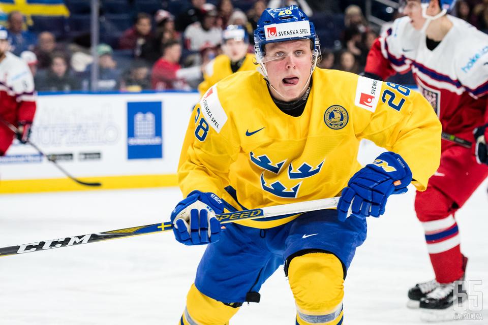 Fabian Zetterlund teki Ruotsin toisen osuman.