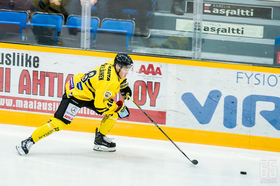 Jääskeläinen teki viime kaudella Liiga-debyyttinsä.