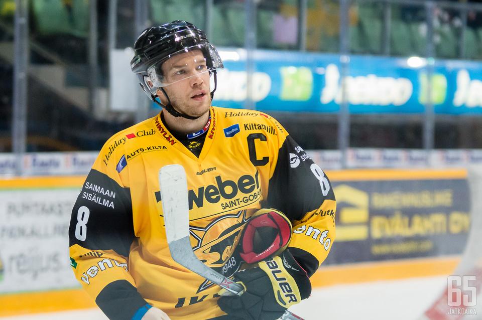 Ville Koho vietti kahden pisteen iltaa.