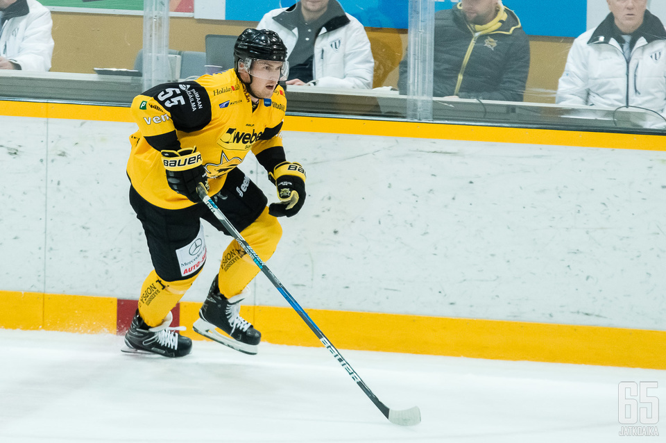 Lasse Lappalainen oli tällä kaudella SaiPan toiseksi tehokkain puolustaja.