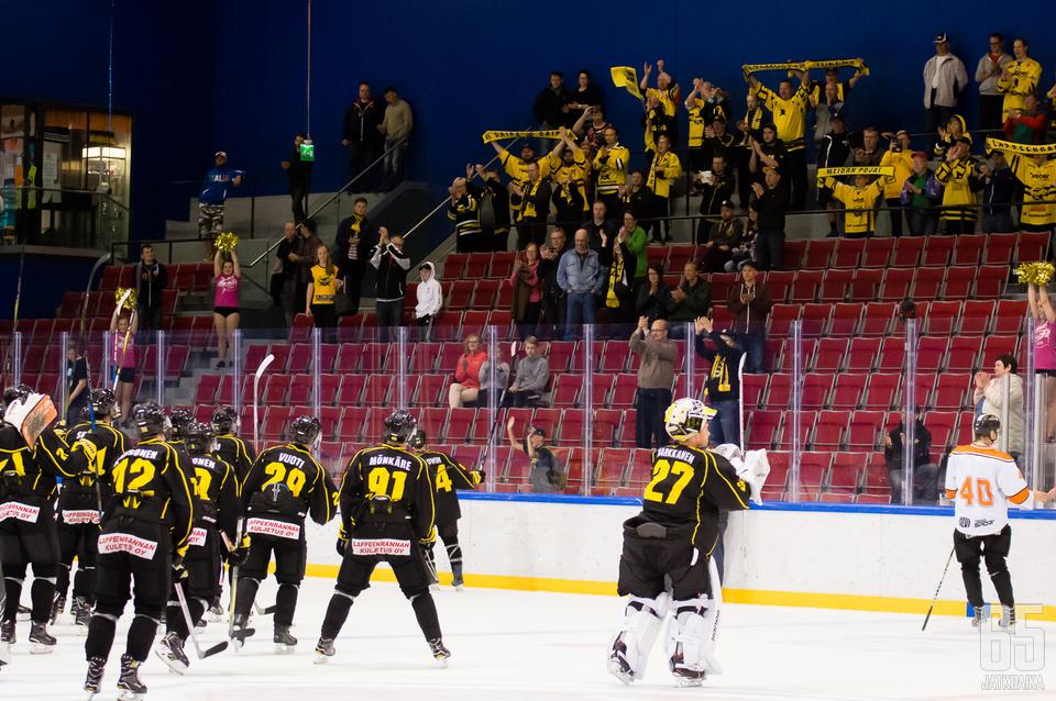 SaiPa pelasi harjoitusotteluitaan muun muassa Imatralla.