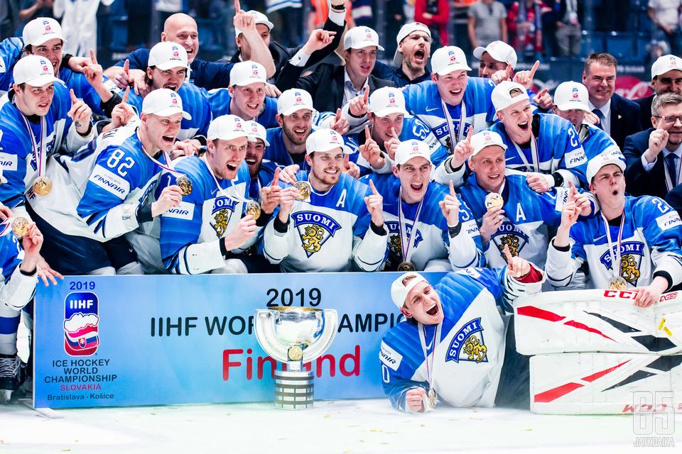 Suomi on jääkiekon maailmanmestari 2019.