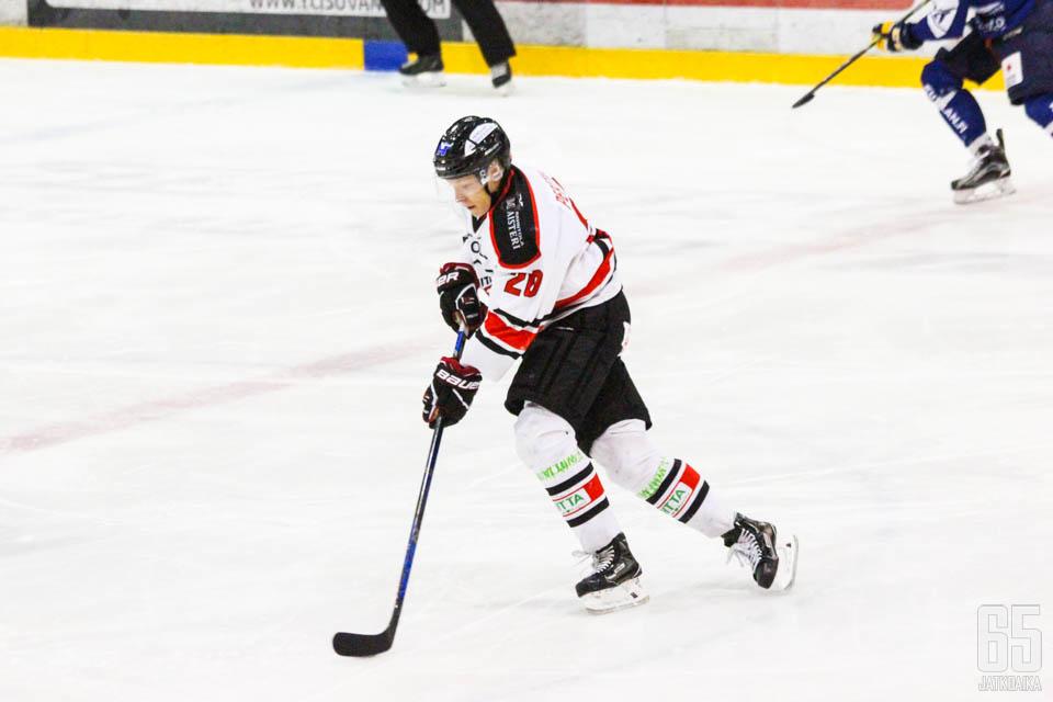 Juuso Perttilä oli illan ottelussa varsin hyvällä pelipäällä. (Arkistokuva)