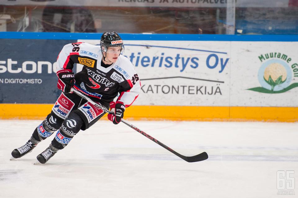 Kalle Saramäki iski uransa ensimmäisen liigamaalin ensimmäisessä vaihdossaan.