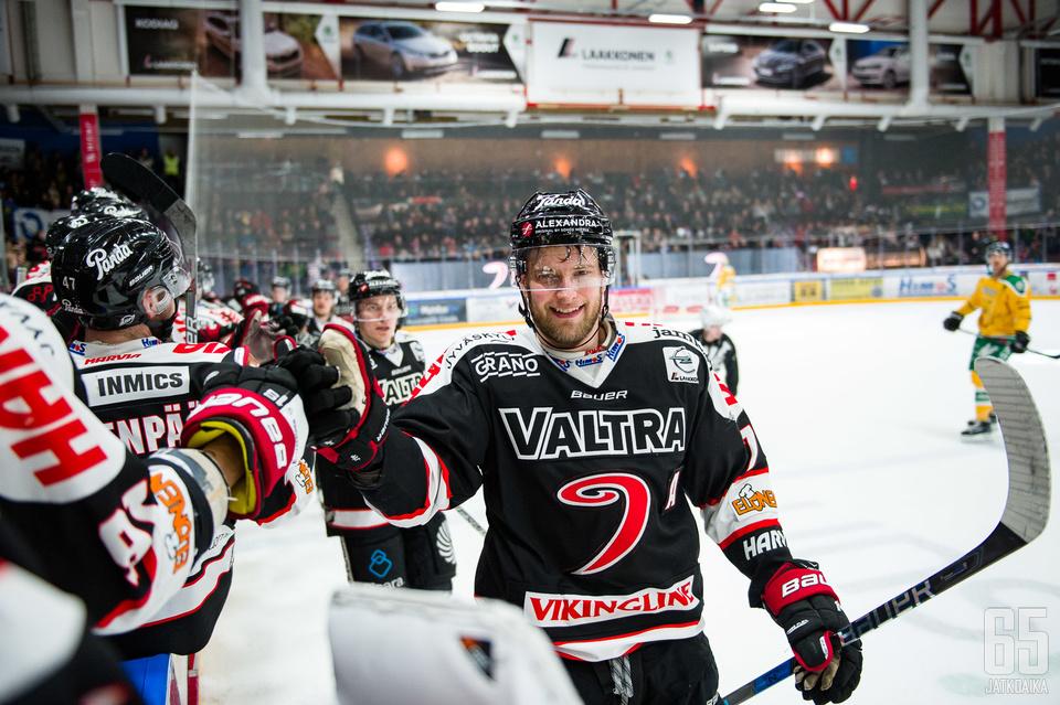 Mikko Kalteva vastasi joukkueensa viidennestä maalista.