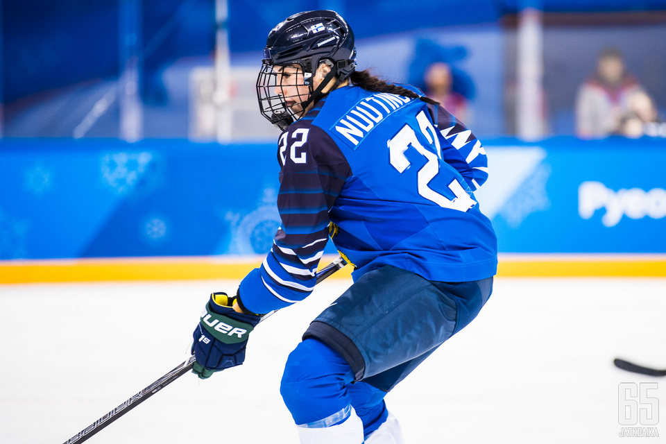 Emma Nuutinen oli osa Suomen joukkuetta Pyeongchangin talviolympialaisissa.