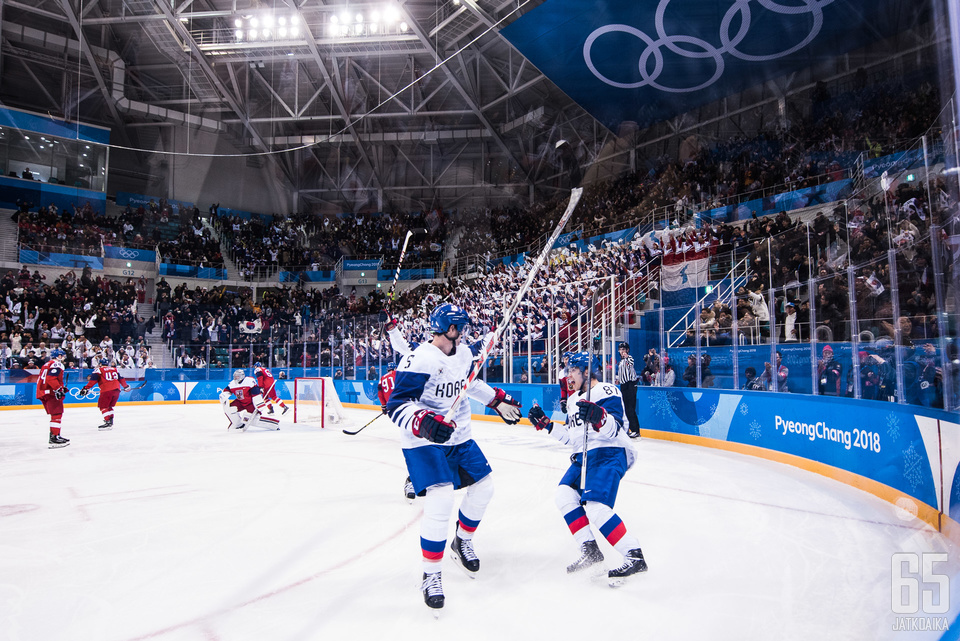 Niin pelaajat kuin yleisö elivät vahvasti mukana Etelä-Korean olympiataipaleella.