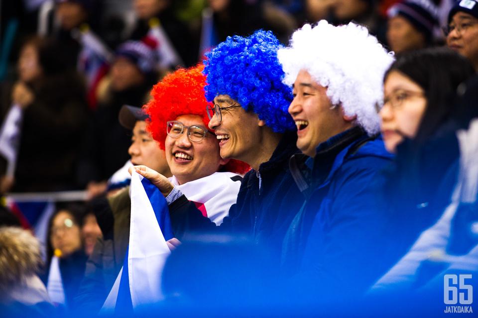 Jääkiekko on vielä eksoottinen laji eteläkorealaisille.