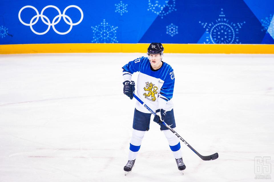 Eeli Tolvanen pelasi Suomen paidassa Etelä-Korean olympialaisissa.