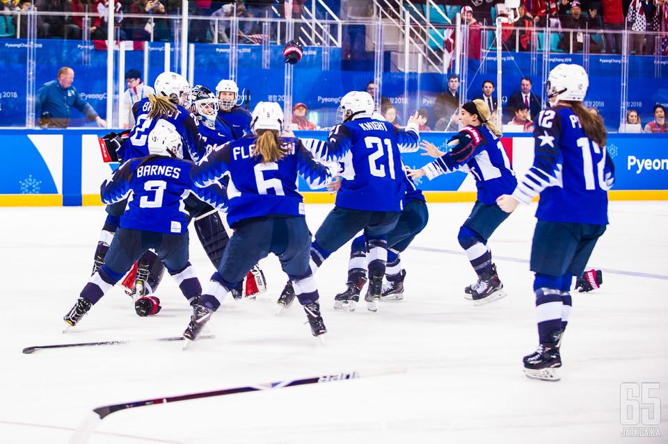 Olympiaturnaus päättyi Yhdysvaltain voitonjuhliin ensimmäistä kertaa sitten Naganon ja vuoden 1998.