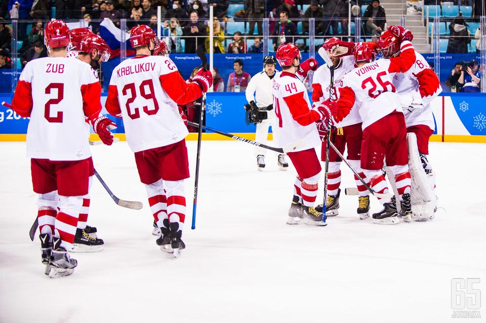 Venäjän olympiaurheilijat etenivät finaaliin.