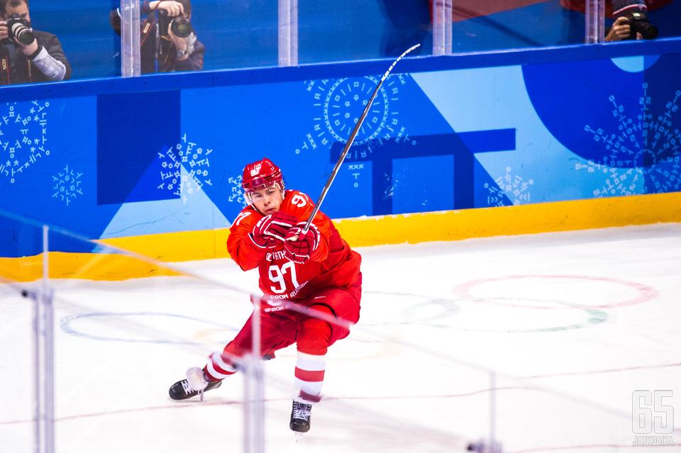 Nikita Gusev on ehtinyt dominoida jo KHL:ssä ja olympialaisissa.