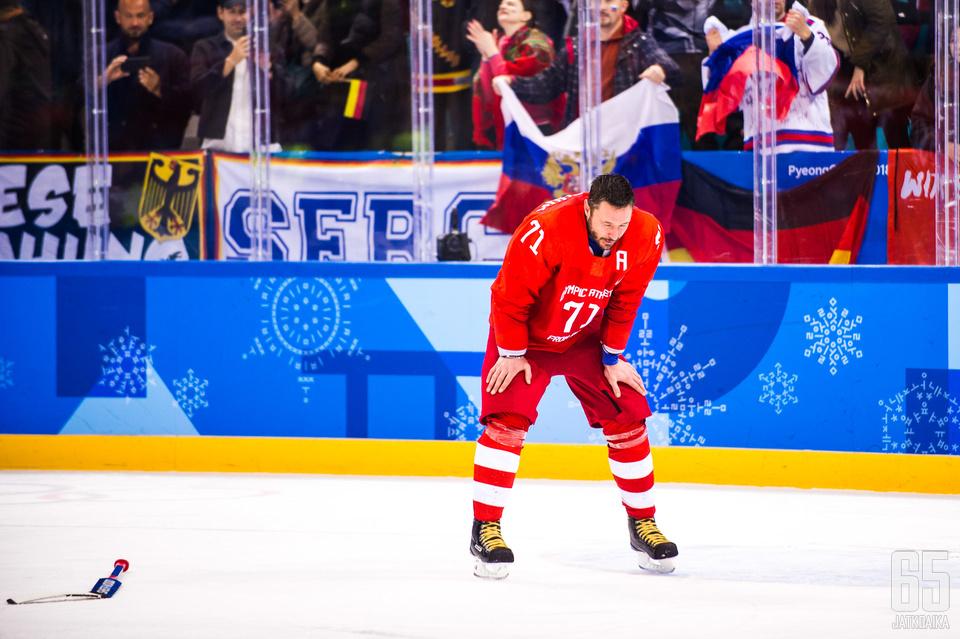 Ilja Kovaltšuk on miesten olympiaturnauksen arvokkain pelaaja.